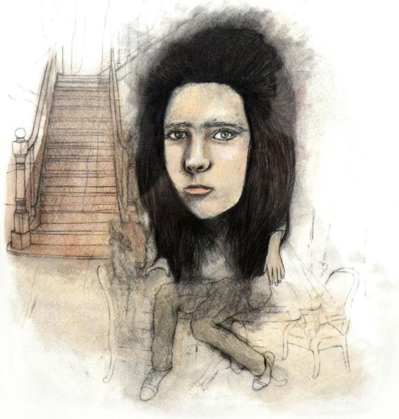 No title, graphite, color pencil, oil on paper, 29 x 31cm, 2012