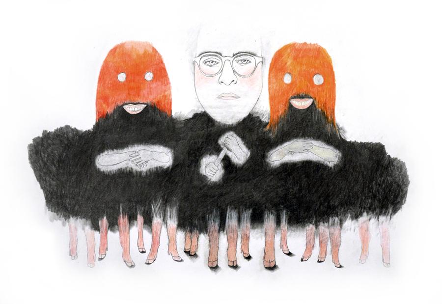 Vivre et penser comme des hommes, graphite, crayons de couleur sur papier, 35 x 45 cm. 2015